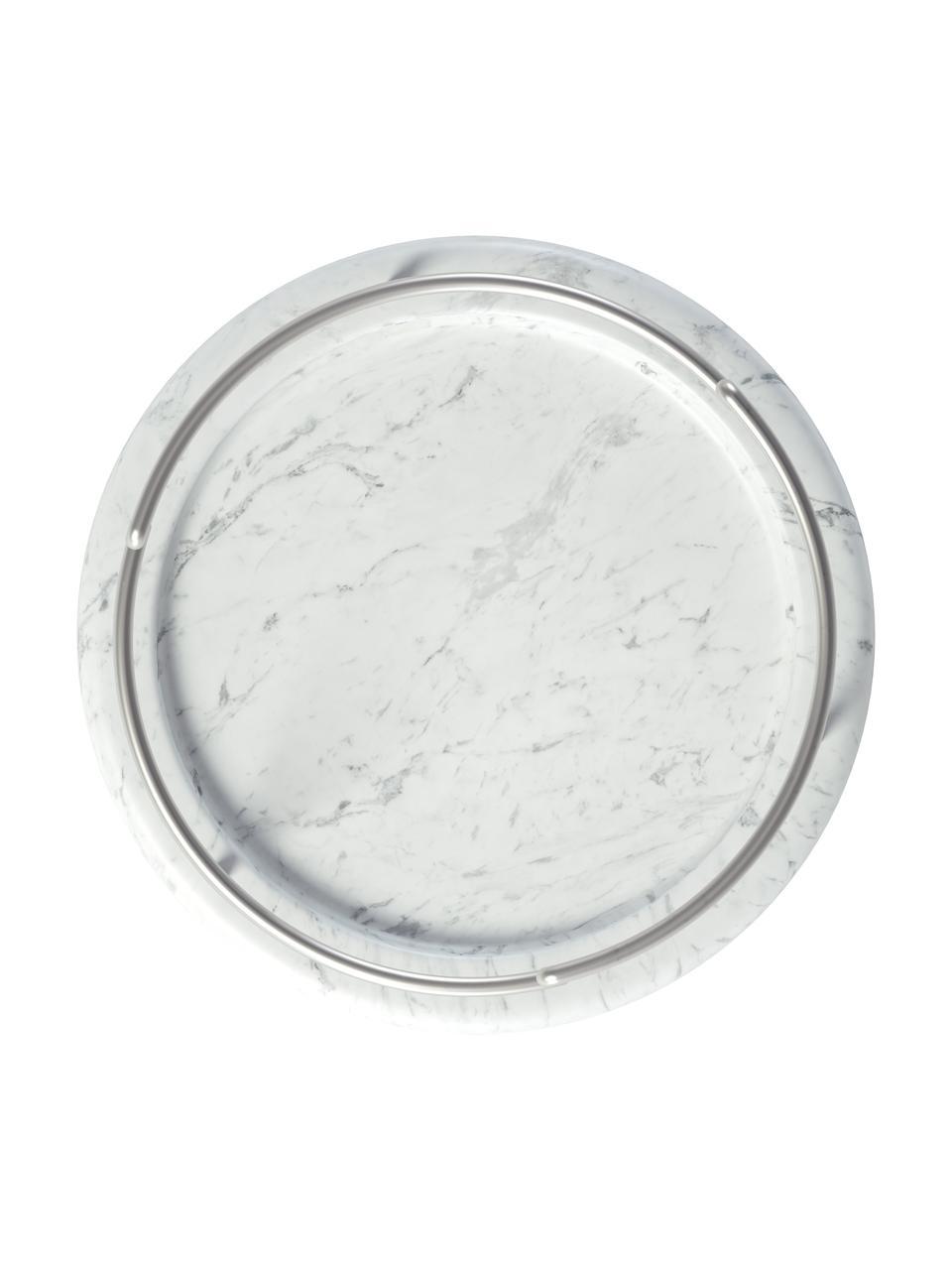 Stojak na biżuterię Tesora, Biały, srebrny, Ø 15 x W 42 cm