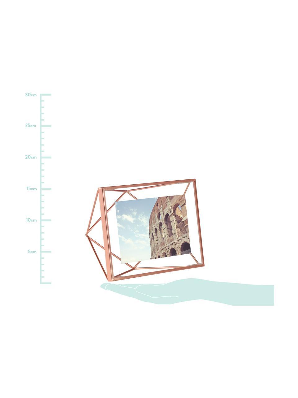 Bilderrahmen Prisma, Rahmen: Stahl, Front: Glas, Kupferfarben, 10 x 15 cm