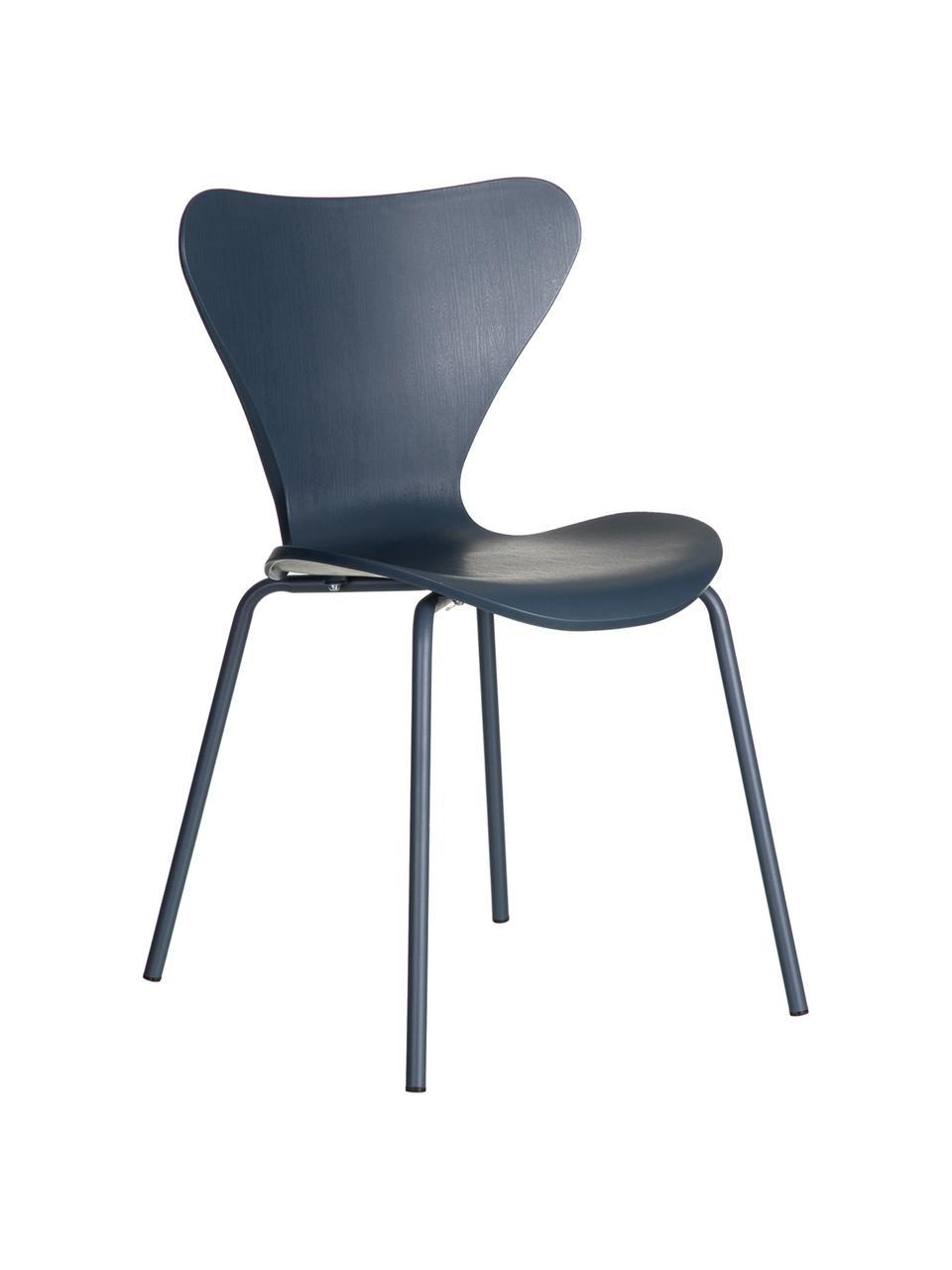 Chaises en plastique Pippi, 2pièces, Bleu
