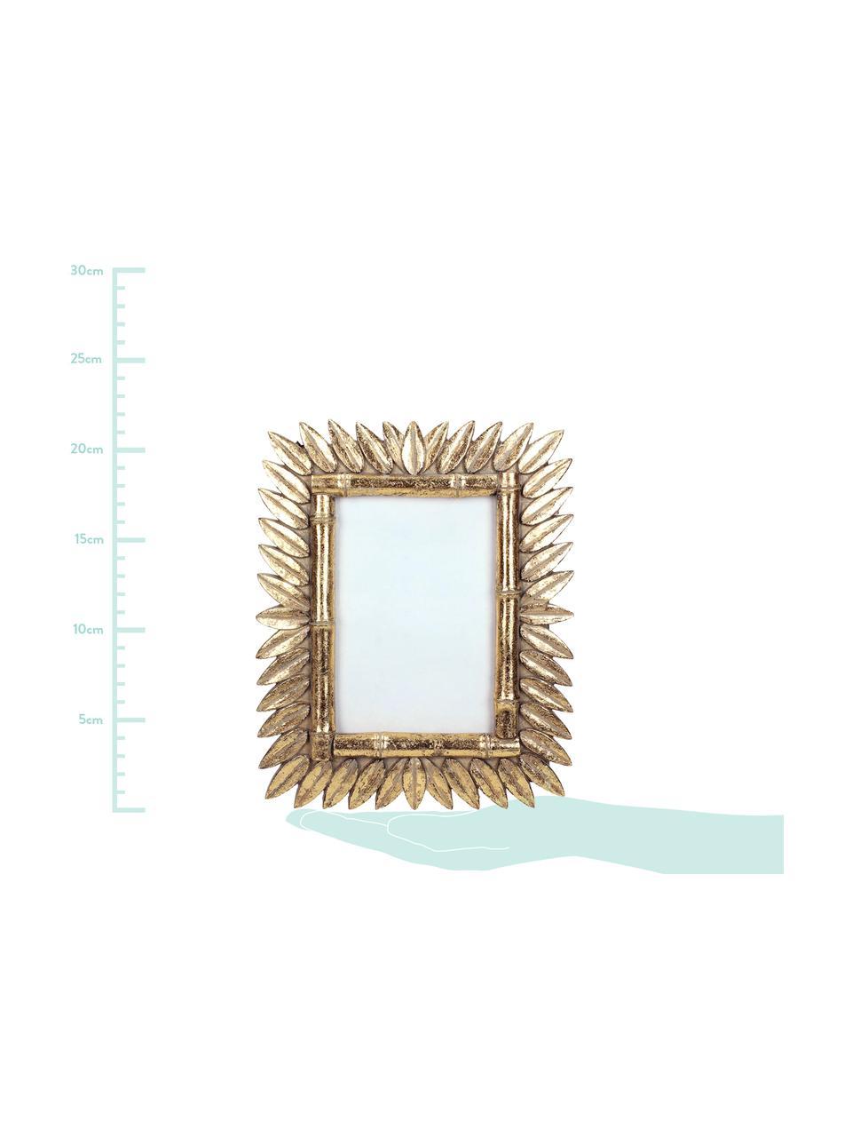 Bilderrahmen Sun in Antik-Optik, Rahmen: Polyresin, Front: Glas, Rückseite: Mitteldichte Holzfaserpla, Messingfarben, 9 x 13 cm