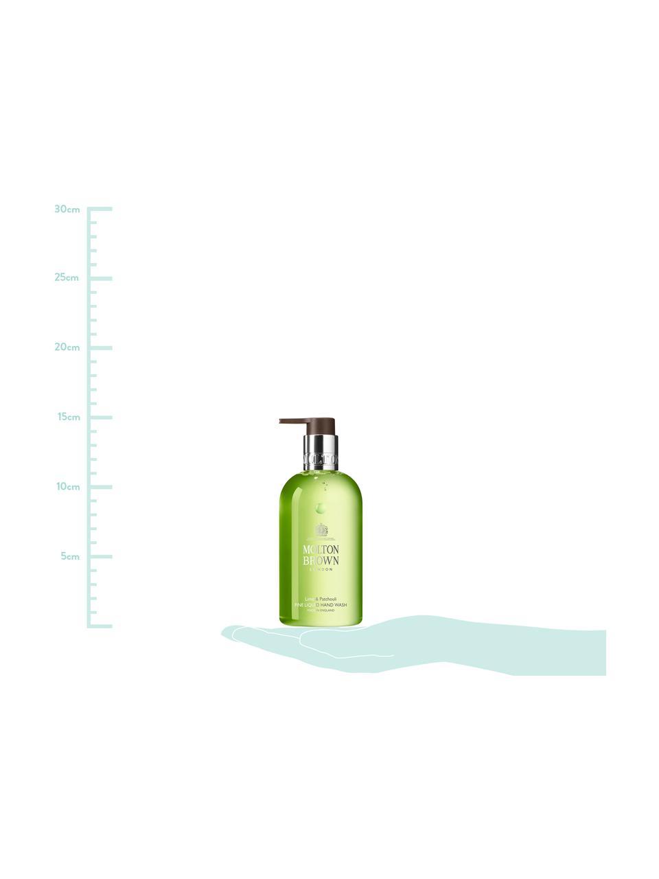 Vloeibare handzeep Molton (limoen en patchoeli), Houder: recyclebare kunststof, Groen, Ø 6 x H 15 cm