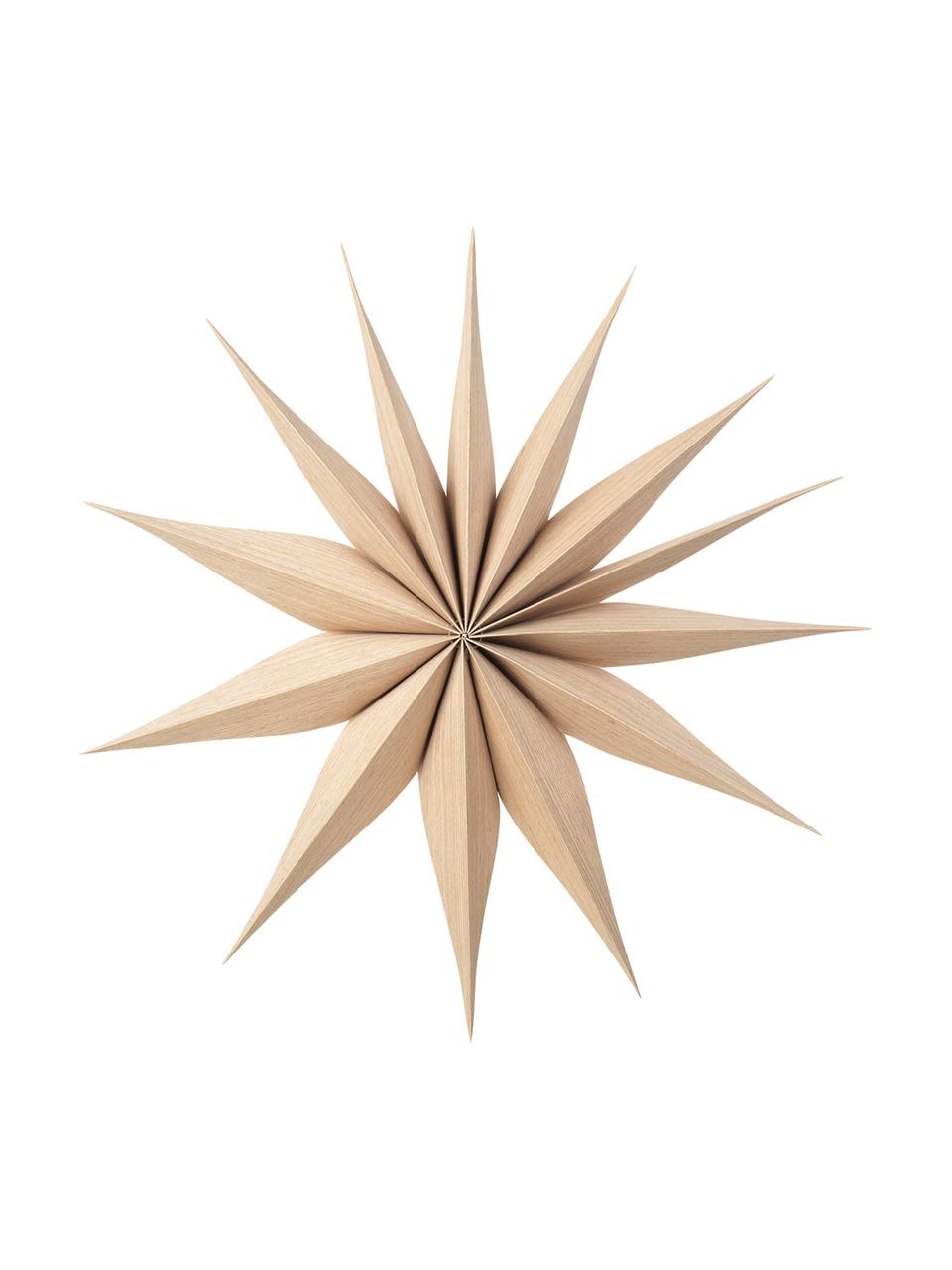 Deko-Sterne Venok, 2 Stück, Dünnes Holz, Hellbraun, Ø 40 cm