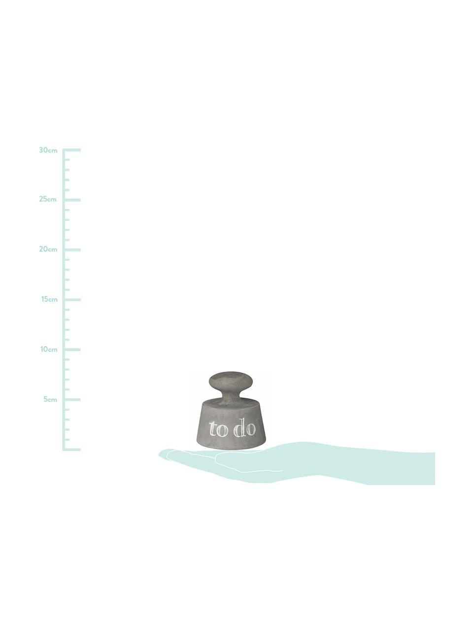 Presse-papier To Do, Beton, Grijs, Ø 8 x H 8 cm