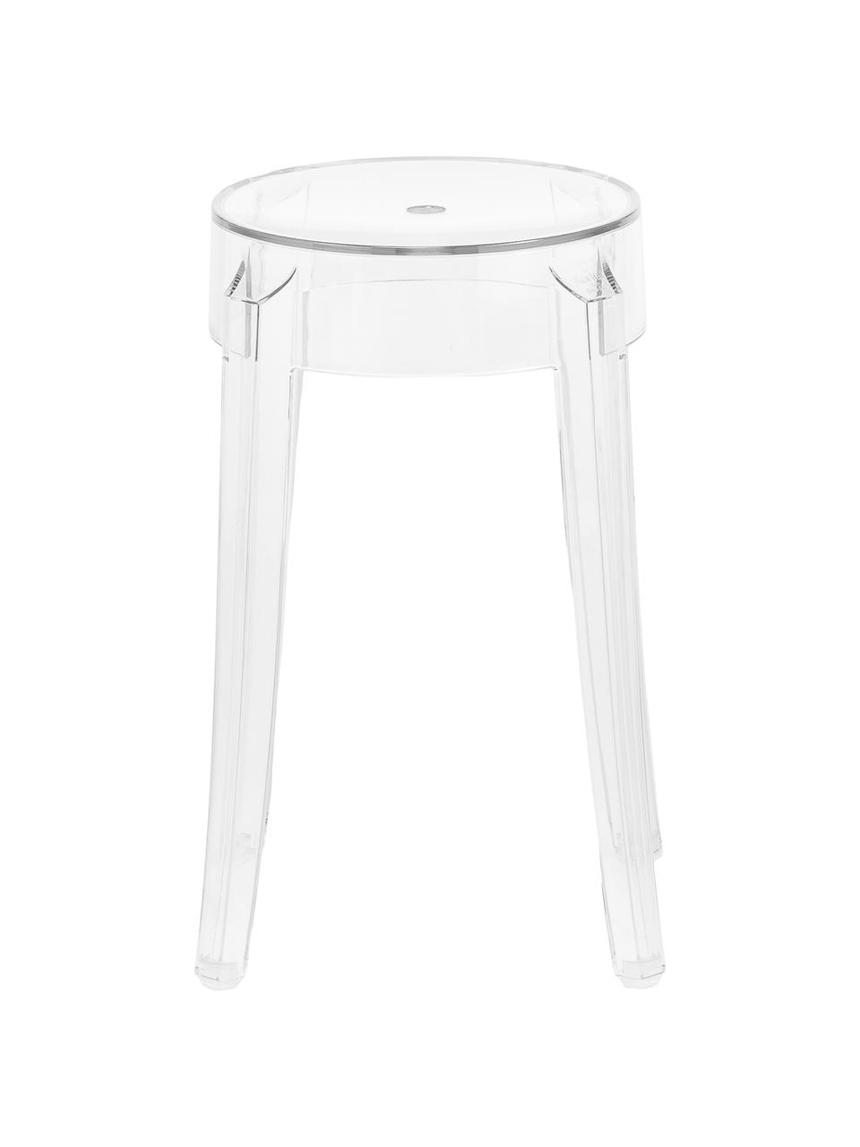Tabouret/table d'appoint transparent Charles Ghost, Transparent