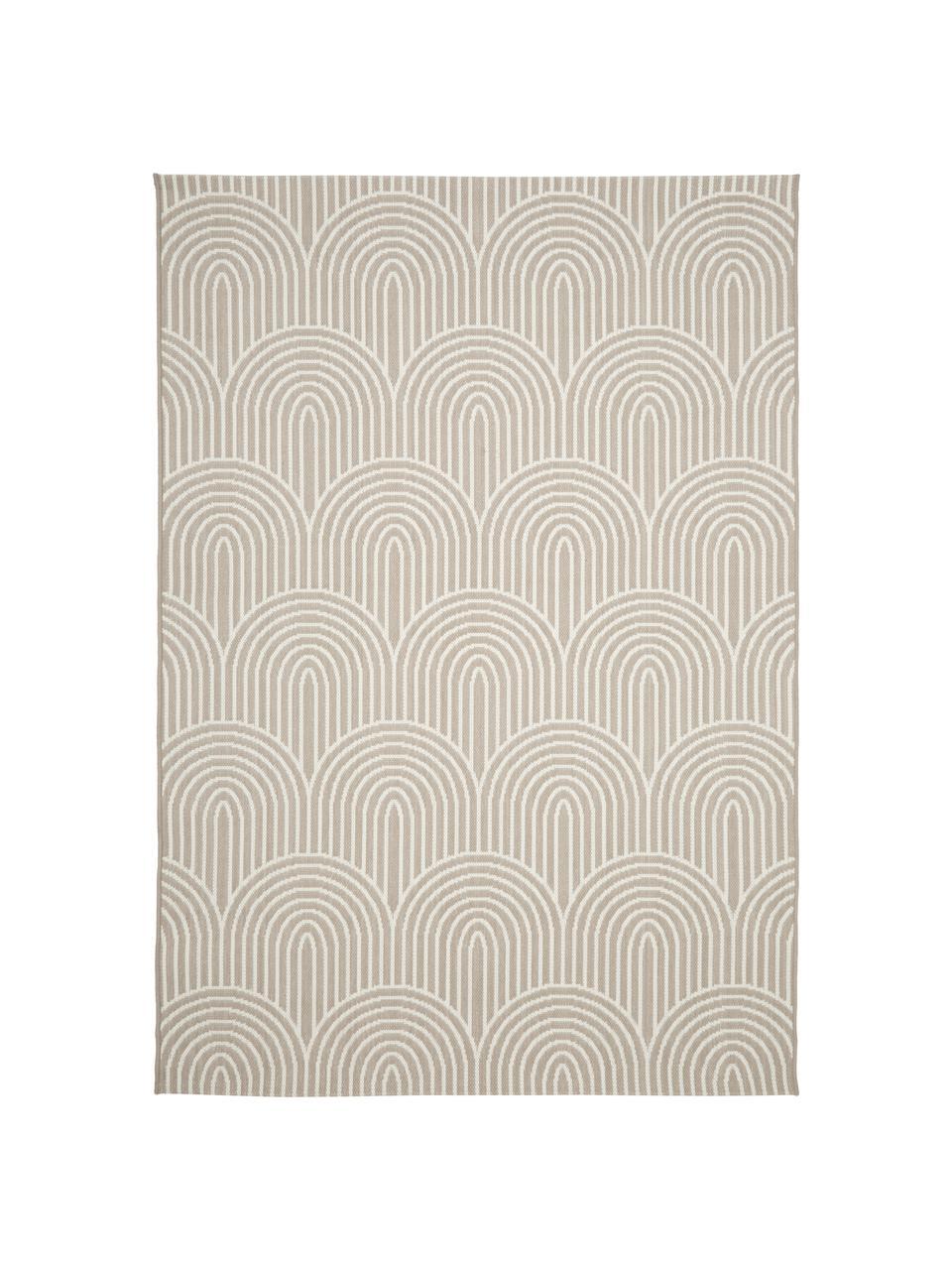In- & outdoor vloerkleed Arches in beige/crèmewit, 86% polypropyleen, 14% polyester, Beige, wit, B 200 x L 290 cm (maat L)