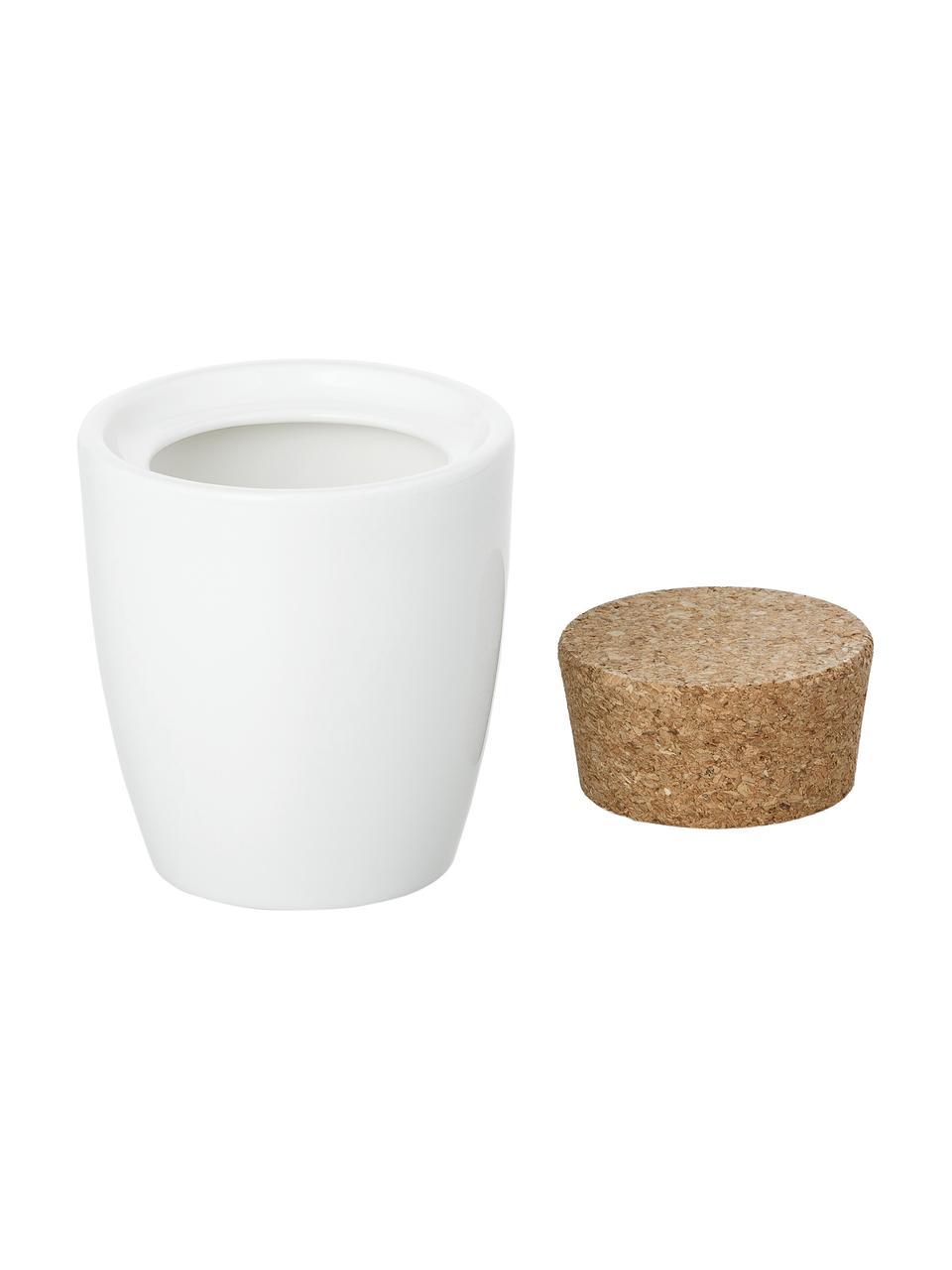 Zuckerdose Artesano Original, Porzellan, Kork, Weiß, 300 ml