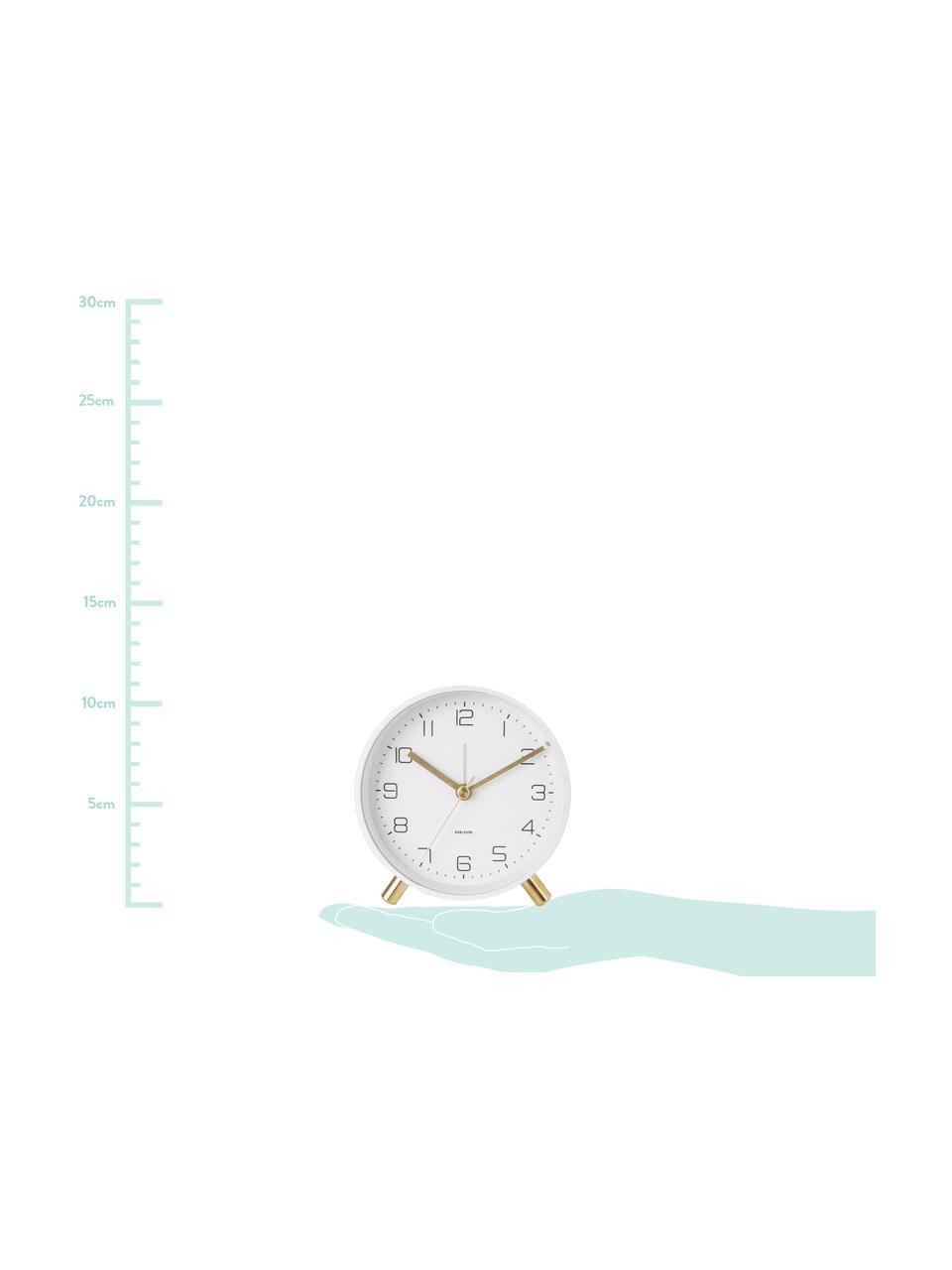 Despertador Lofty, Metal pintado, Blanco, Ø 11 x F 5 cm