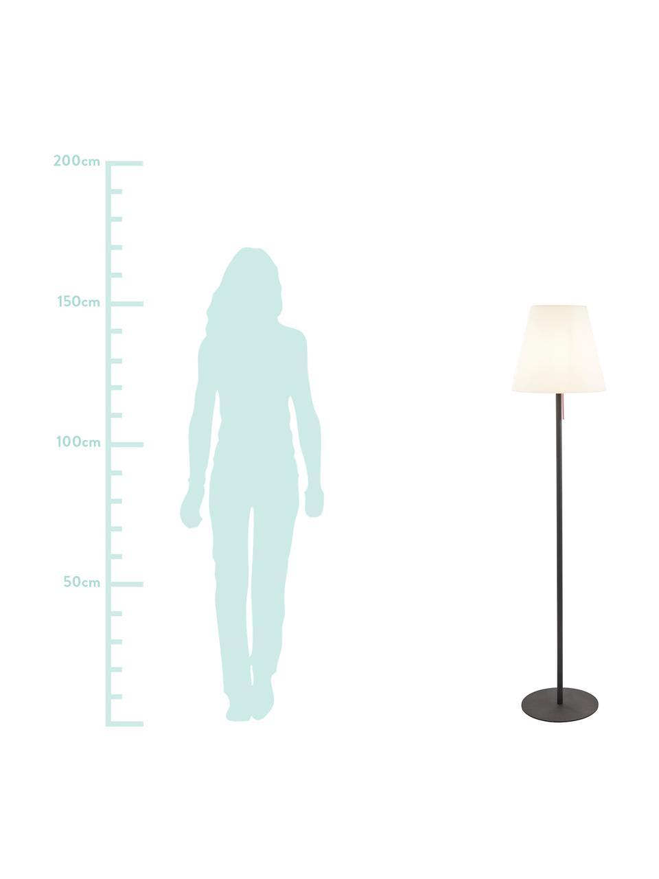 Zewnętrzna lampa podłogowa Gaze, Klosz: biały Podstawa lampy: ciemnyszary, Ø 35 x W 150 cm