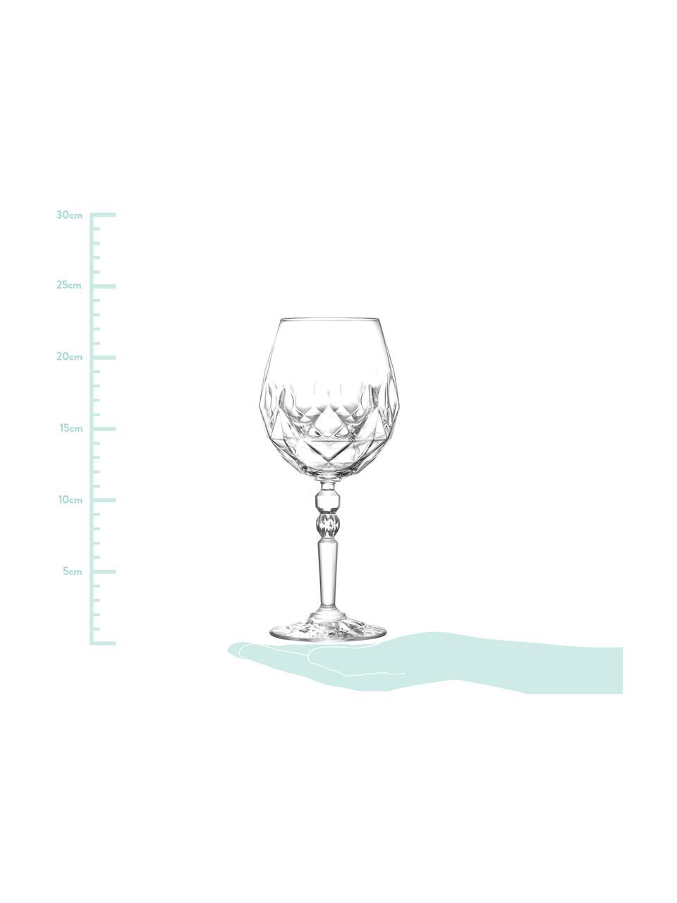 Verre à vin rouge cristal avec embossage Calicia, 6pièces, Transparent