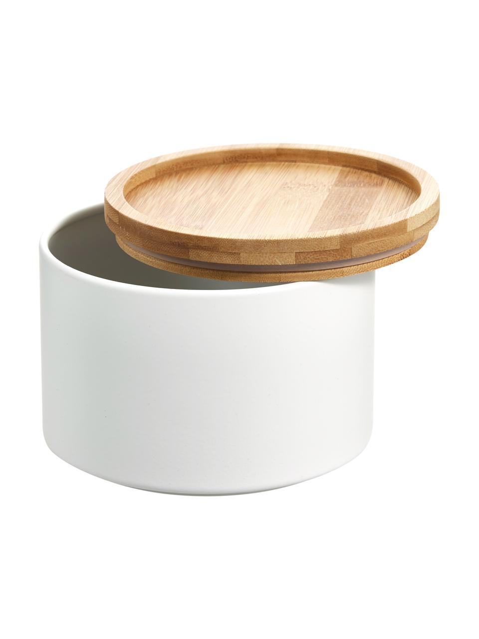 Pojemnik do przechowywania z metalu Bambel, Biały, Ø 13 x W 10 cm