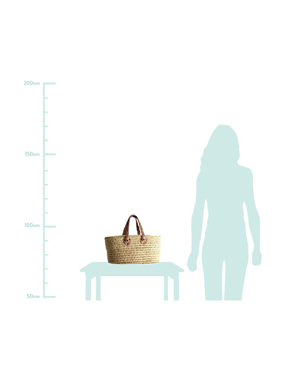 Torba na zakupy Lea, Beżowy, S 60 x W 30 cm