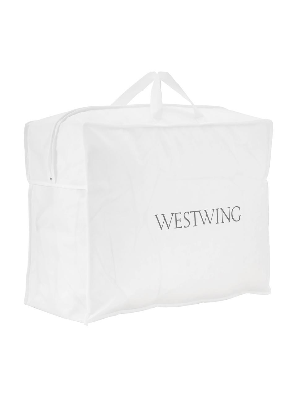 Daunen-Bettdecke Comfort, leicht, Hülle: 100% Baumwolle, feine Mak, Weiß, 135 x 200 cm