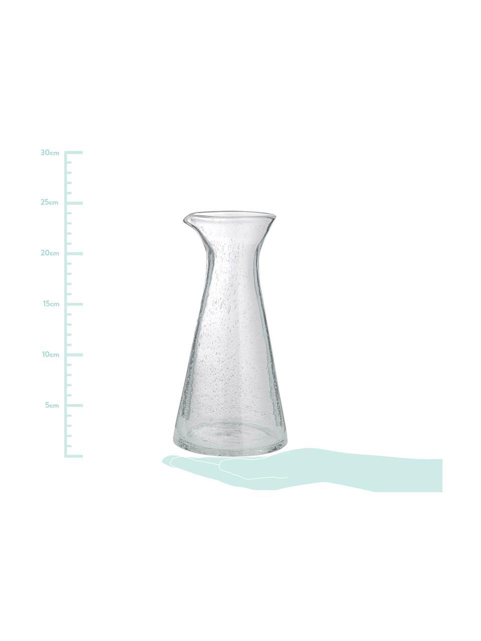 Caraffa in vetro soffiato con bollicine Bubble, 250 ml, Vetro soffiato, Trasparente con bolle d'aria, 250 ml