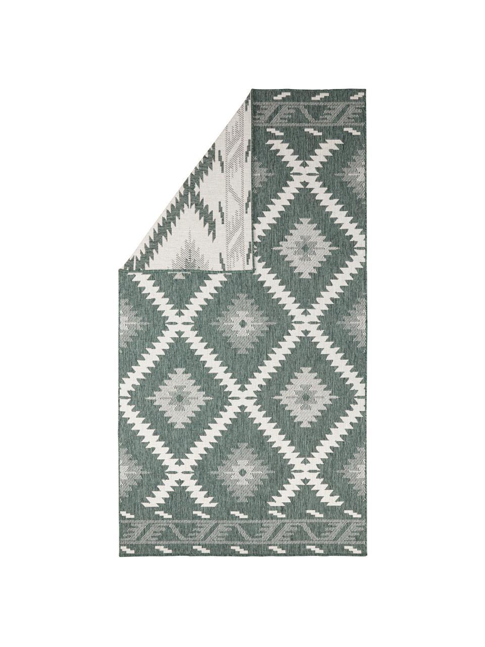 Tappeto reversibile da interno-esterno Malibu, Verde, crema, Larg. 200 x Lung. 290 cm (taglia L)
