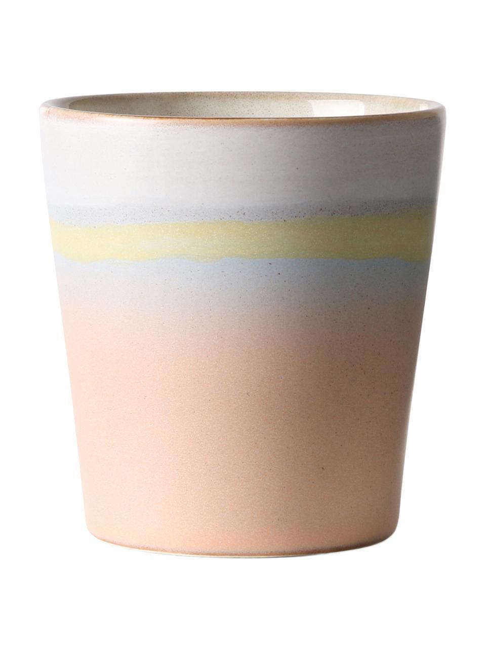 Handgemaakte XS-bekerset 70's, 2-delig, Keramiek, Multicolour, Ø 8 x H 8 cm