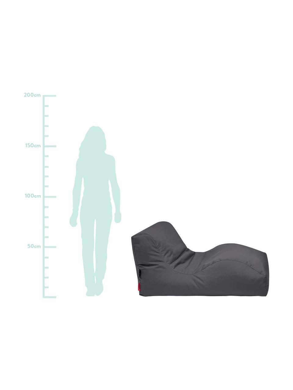 Outdoor ligzak Wave, Bekleding: polyester, polyurethaan g, Antraciet, B 70 x D 125 cm