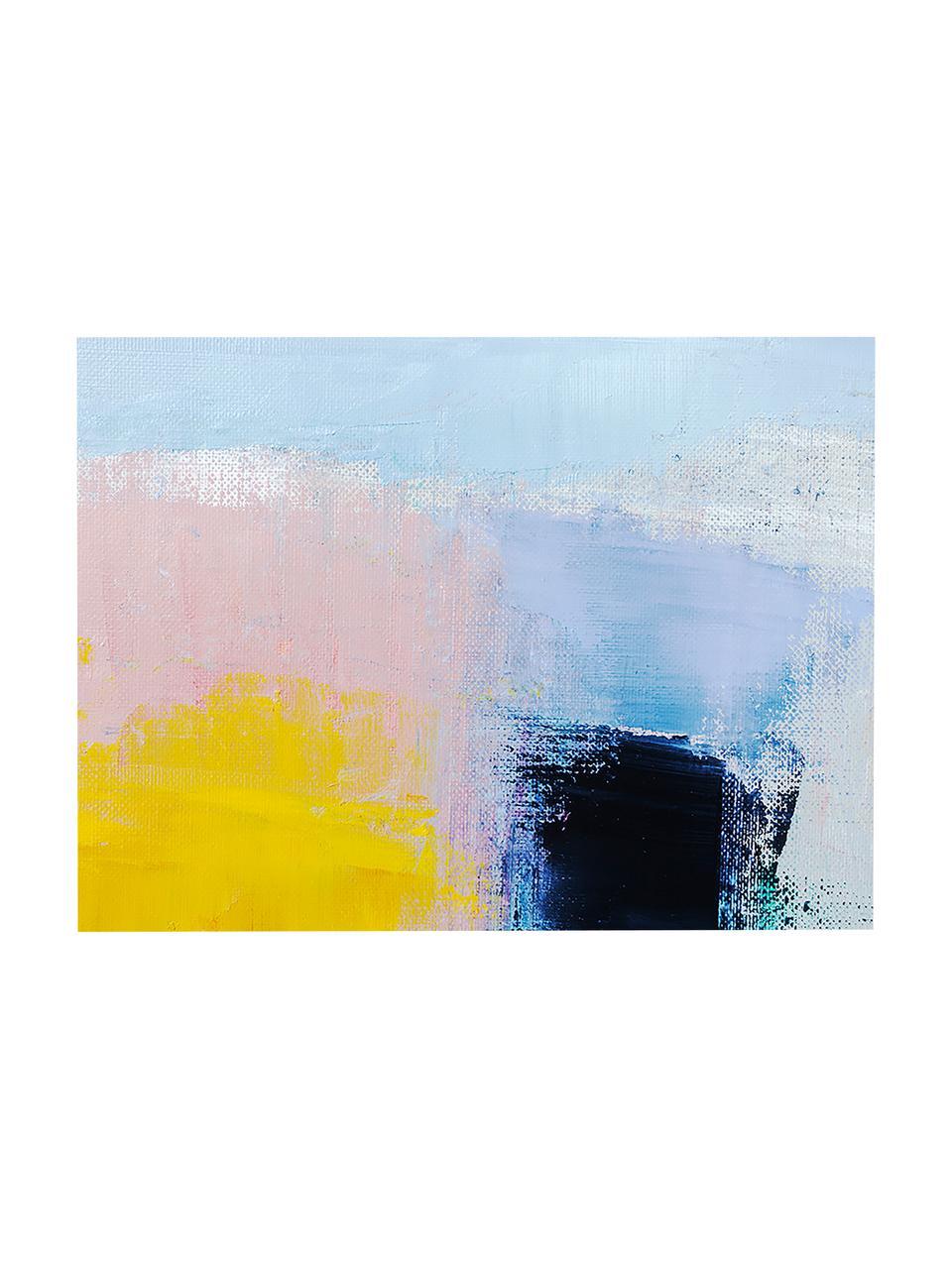Canvasprint Abstract Art, Afbeelding: digitale print op linnen, Multicolour, 80 x 60 cm