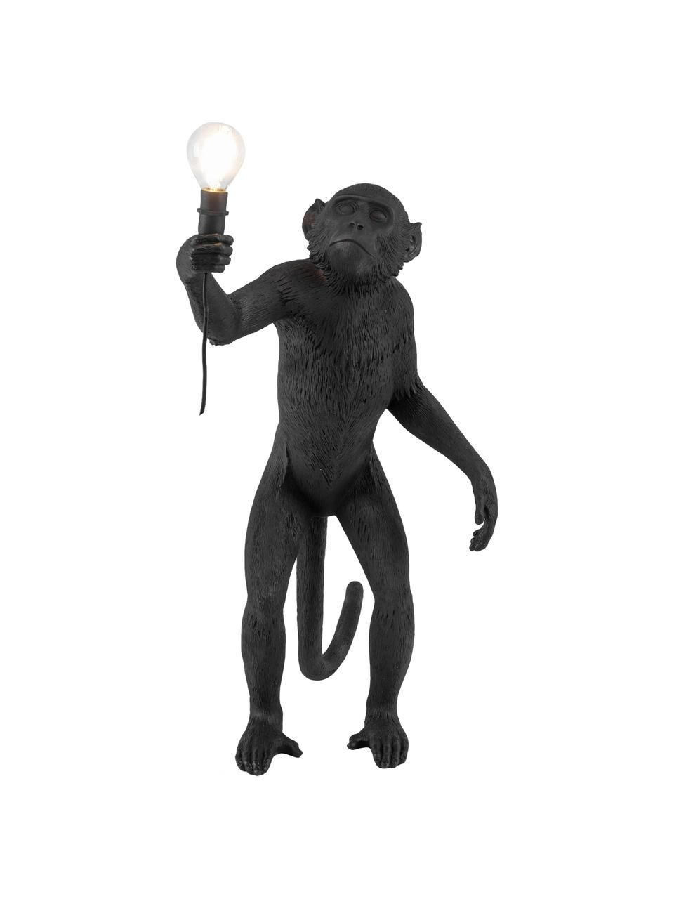 Lampada da tavolo a LED da esterno Monkey, Resina, Nero, Larg. 46 x Alt. 54 cm
