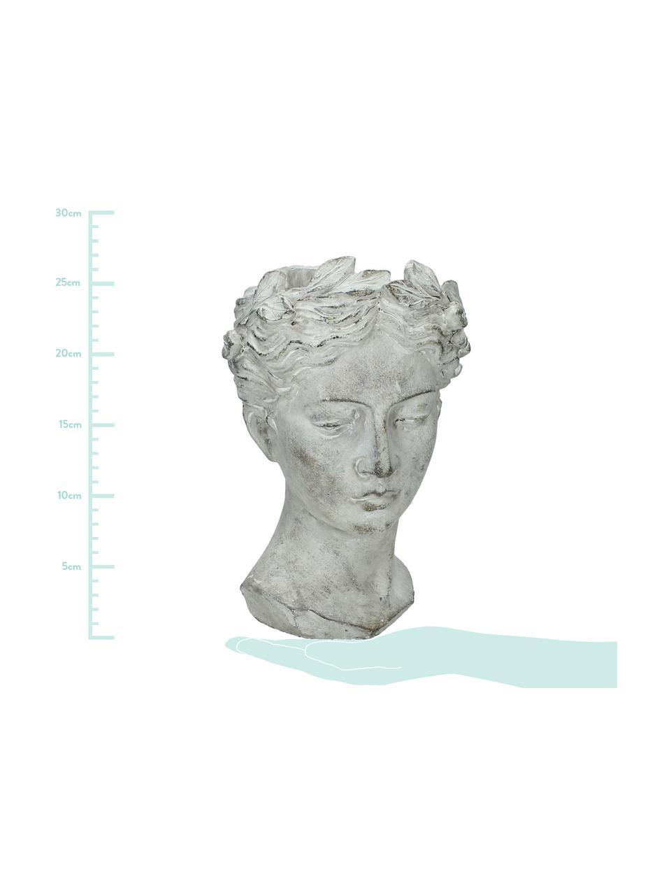Portavaso in cemento Pass, Cemento, Grigio, Ø 18 x Alt. 27 cm
