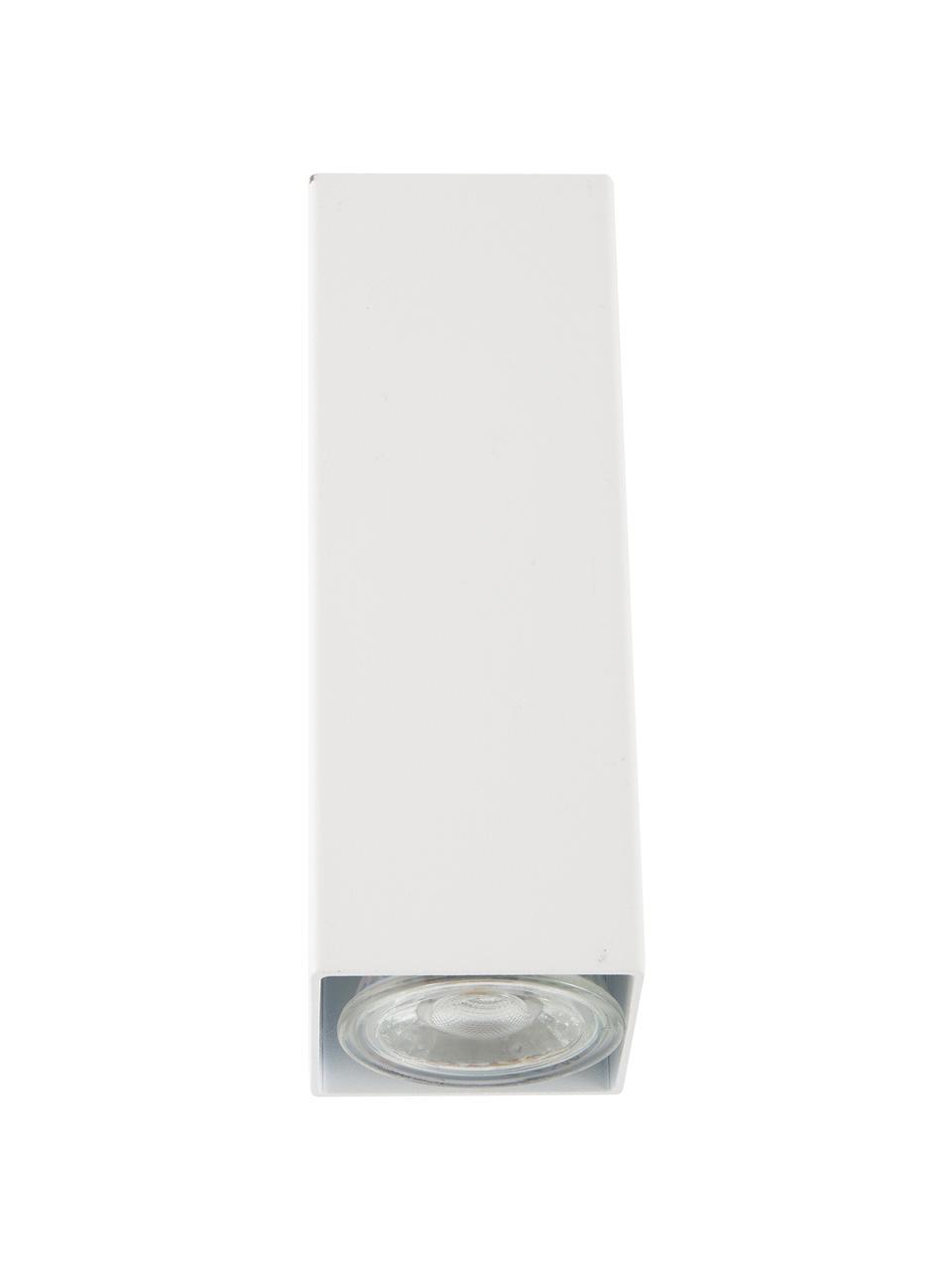 Wandstop Peter, Lampenkap: gepoedercoat metaal, Wit, 5 x 8 cm