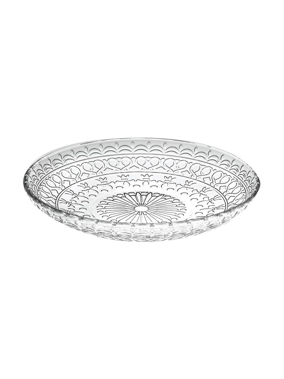 Piattino da dessert in cristallo Frutta 4 pz, Cristallo Luxion, Trasparente, Ø 18 cm