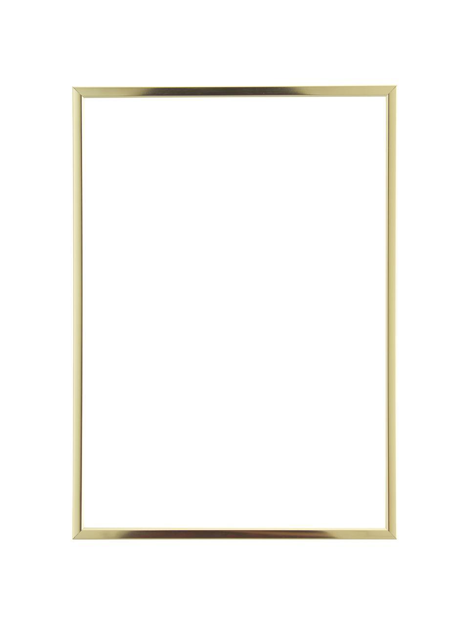 Bilderrahmen Accent, Rahmen: Aluminium, beschichtet, Front: Glas, Rückseite: Mitteldichte Holzfaserpla, Messingfarben, 21 x 30 cm