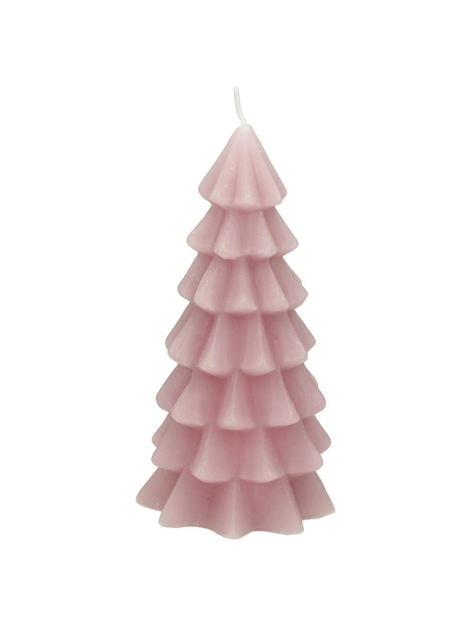 Candela Christmas Tree, Paraffina, Rosa, Ø 6 x Alt. 12 cm