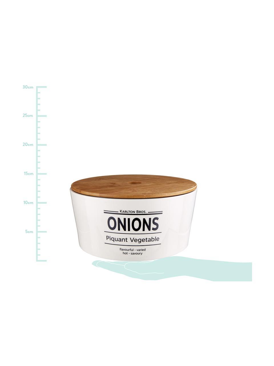 Contenitore Karlton Bros. Onions, Porcellana, Bianco, nero, marrone, Ø 22 x Alt. 11 cm