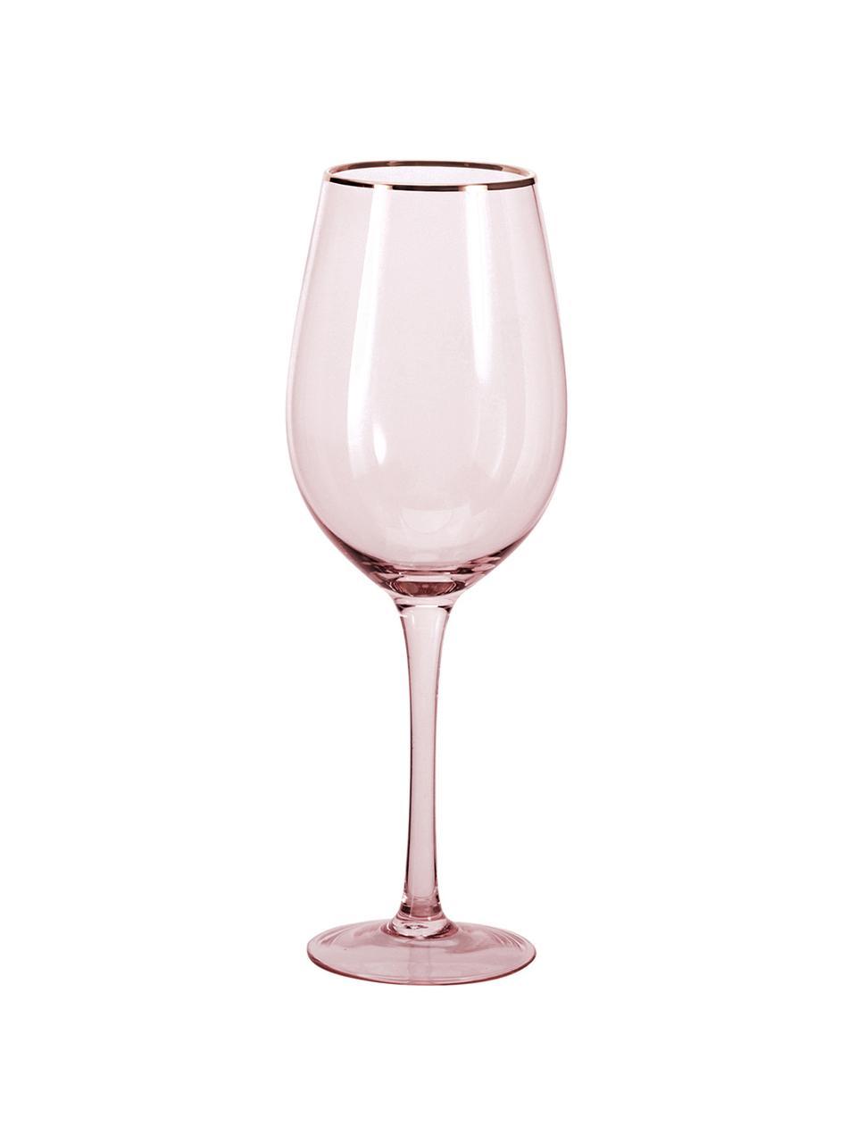 Kieliszek do wina Chloe, 4 szt., Szkło, Brzoskwiniowy, Ø 9 x W 26 cm
