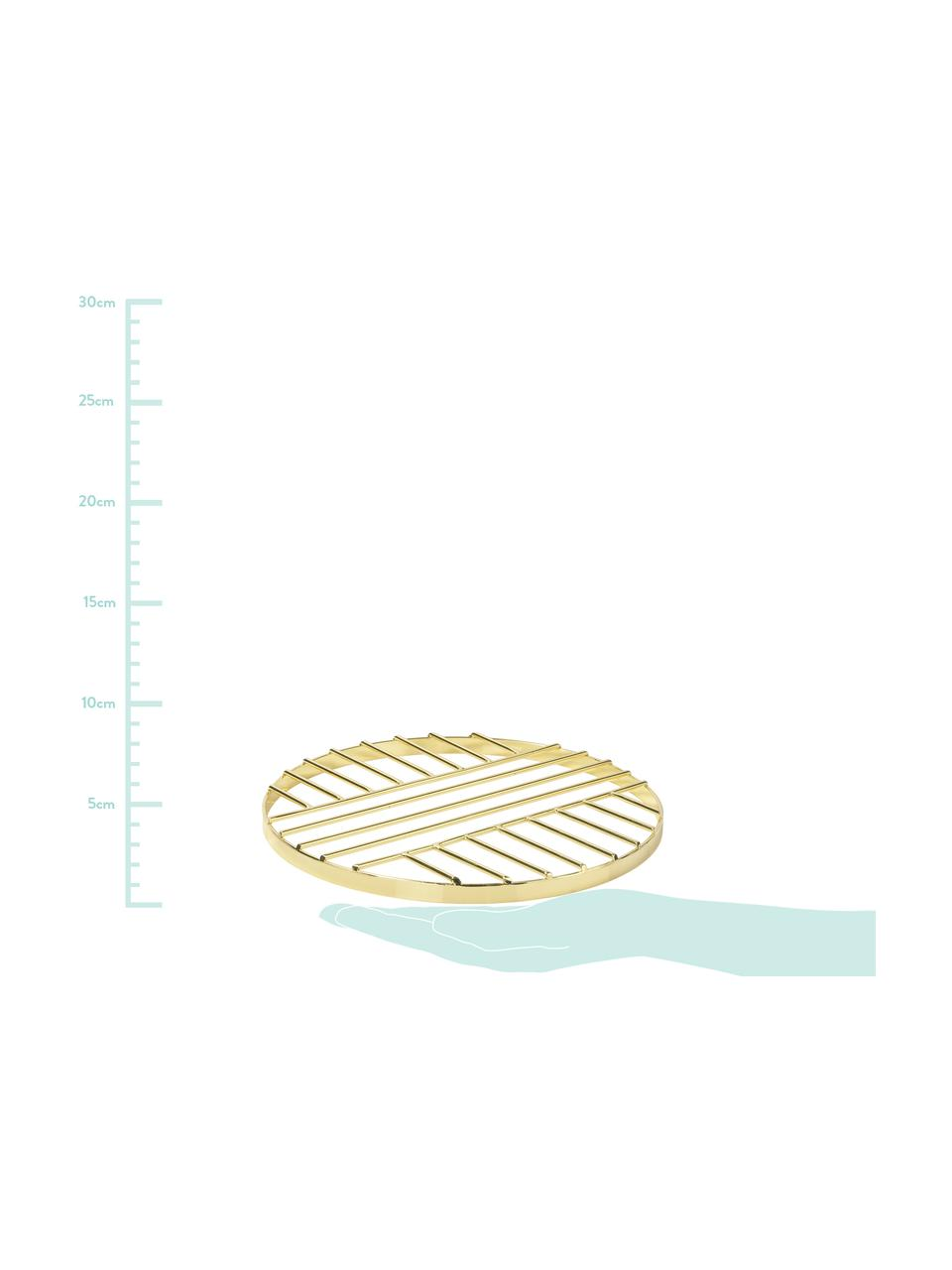 Topfuntersetzer Thrive, Metall, beschichtet, Messingfarben, Ø 20 cm