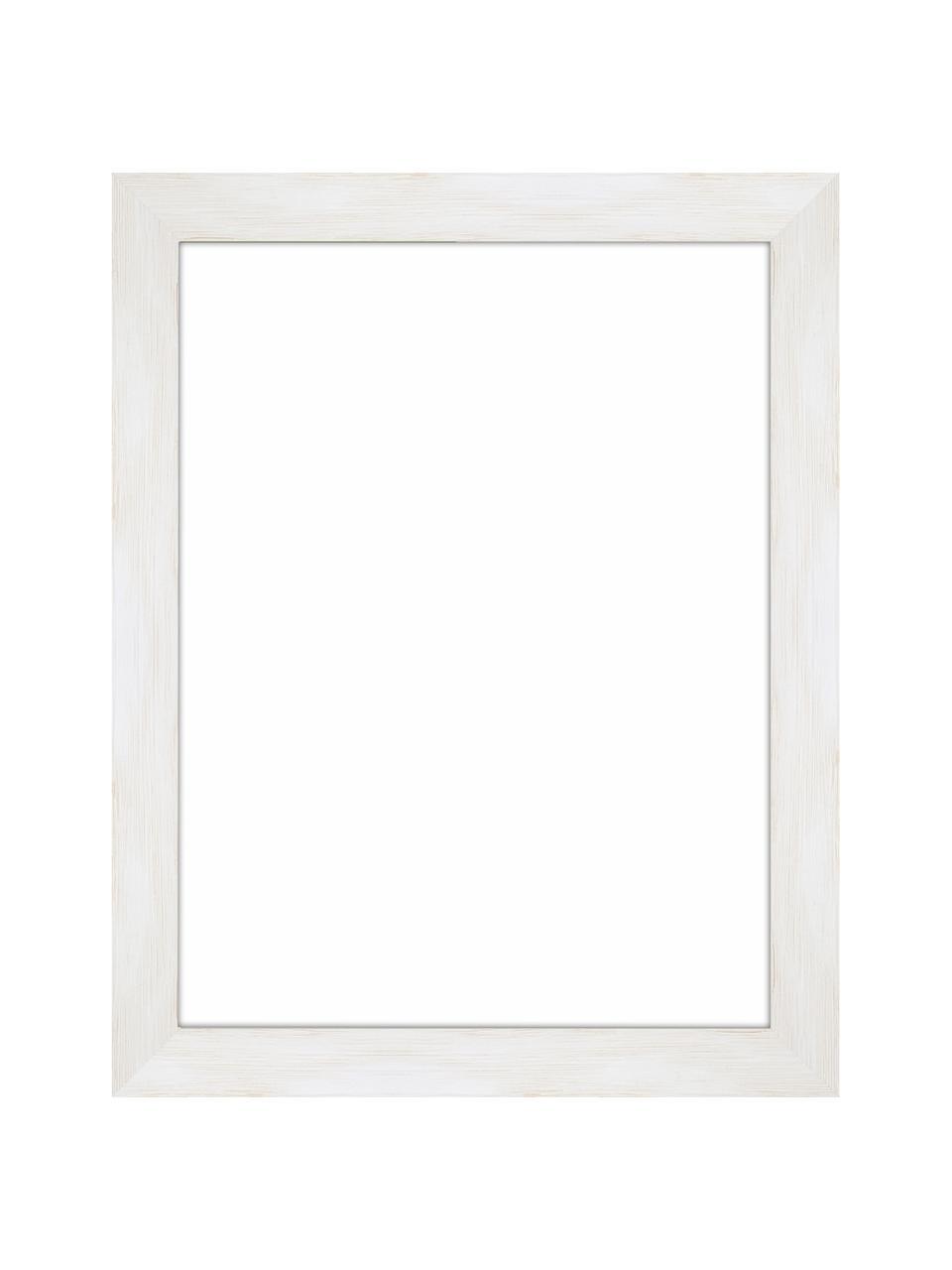 Bilderrahmen Magic, Rahmen: Monterey-Kiefernholz, lac, Front: Glas, Rückseite: Mitteldichte Holzfaserpla, Weiß, 18 x 24 cm