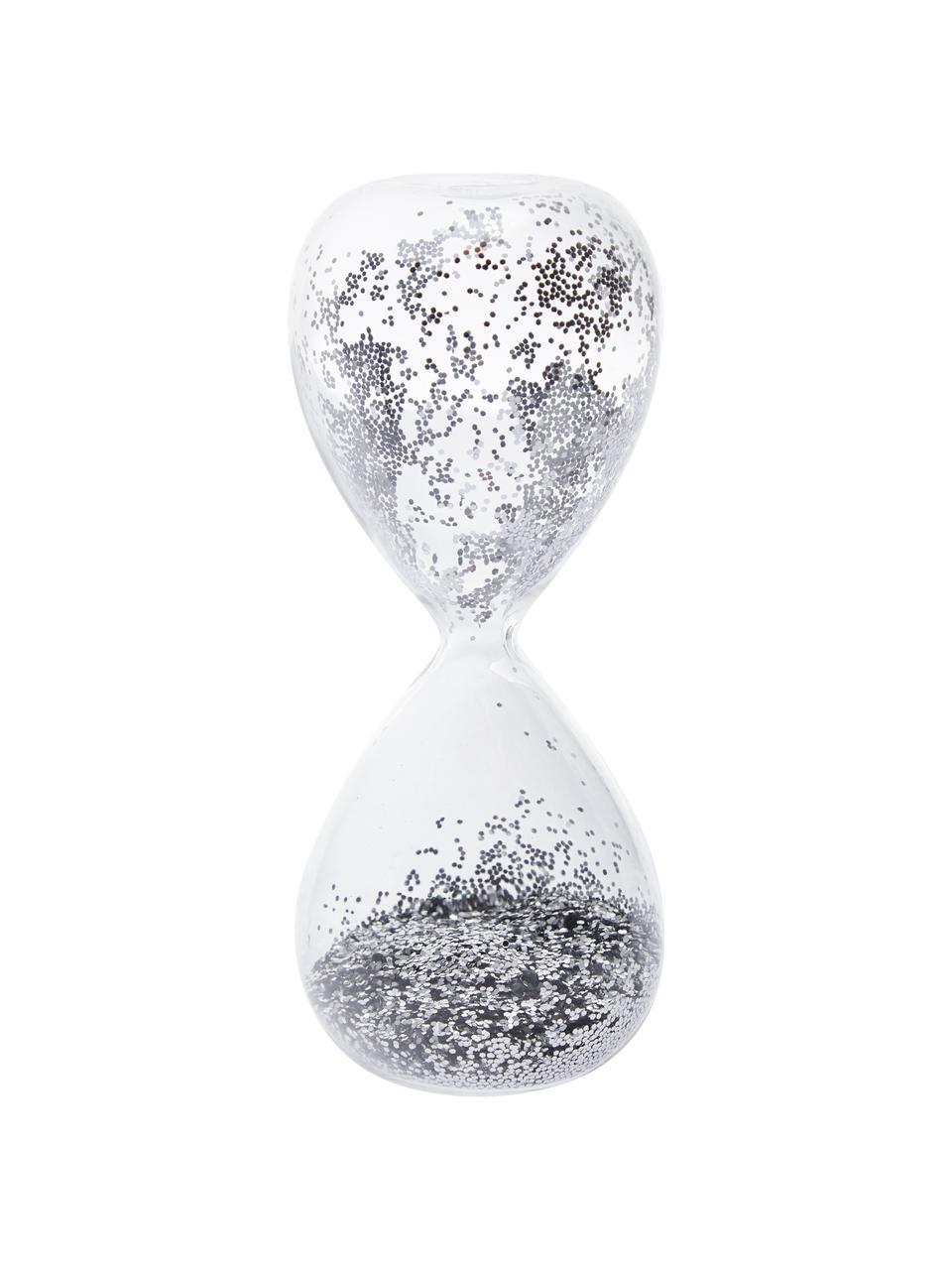 Objet décoratif Hourglass, Transparent, couleur argentée