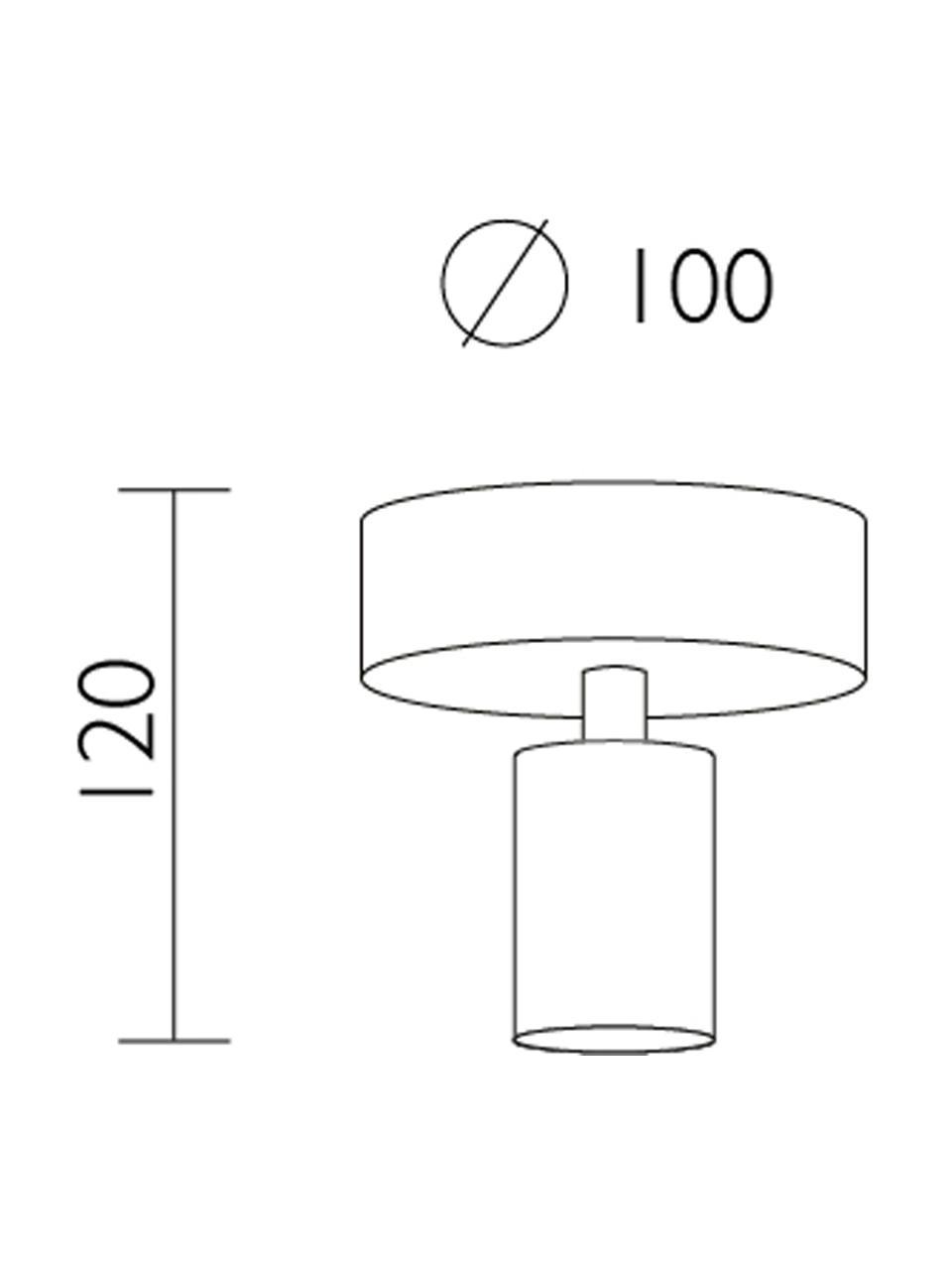Kleine Deckenleuchte Cero, Baldachin: Stahl, pulverbeschichtet, Weiß, Ø 10 x H 12 cm