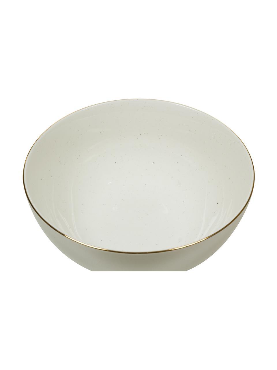 Ręcznie wykonana miska Bella, Porcelana, Kremowobiały, Ø 22 x W 10 cm