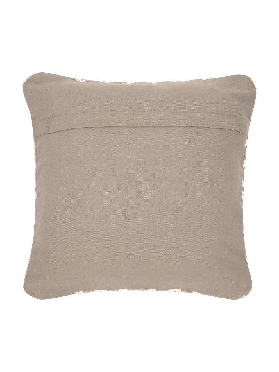 Kissenhülle Diajute aus Jute/Baumwoll-Mix, Vorderseite: 55% Jute, 45% Baumwolle, Rückseite: Baumwolle, Vorderseite: Beige, CremeweißRückseite: Hellbeige, 45 x 45 cm