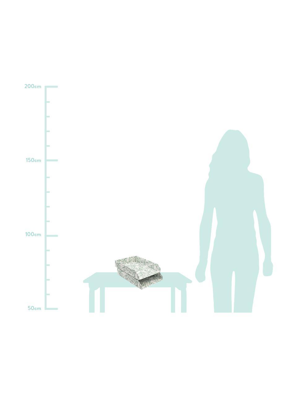 Dokumenten-Ablagen Leaf, 2 Stück, Fester, laminierter Karton, Weiß, Grün, B 23 x T 31 cm