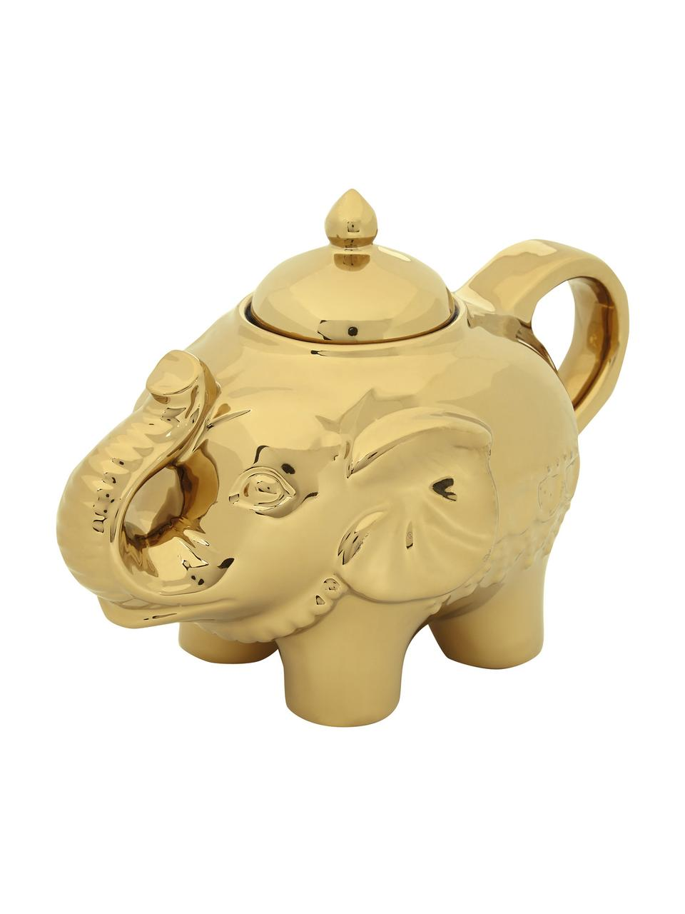 Zuckerdose Elephant, 300 ml, Glas, Goldfarben, 15 x 12 cm