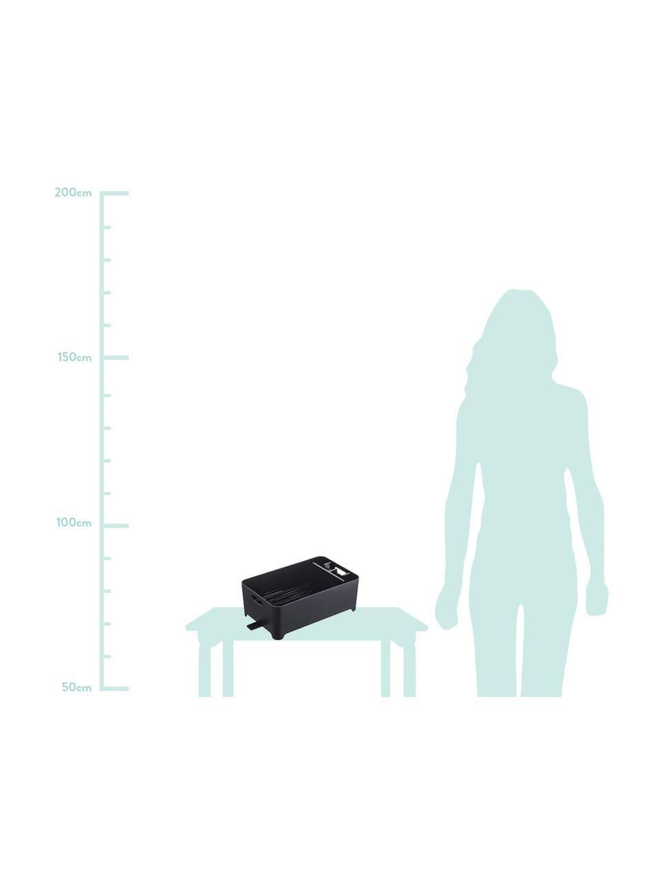 Suszarka do naczyń z tworzywa sztucznego Tower, Tworzywo sztuczne (ABS), Czarny, S 38 x W 13 cm