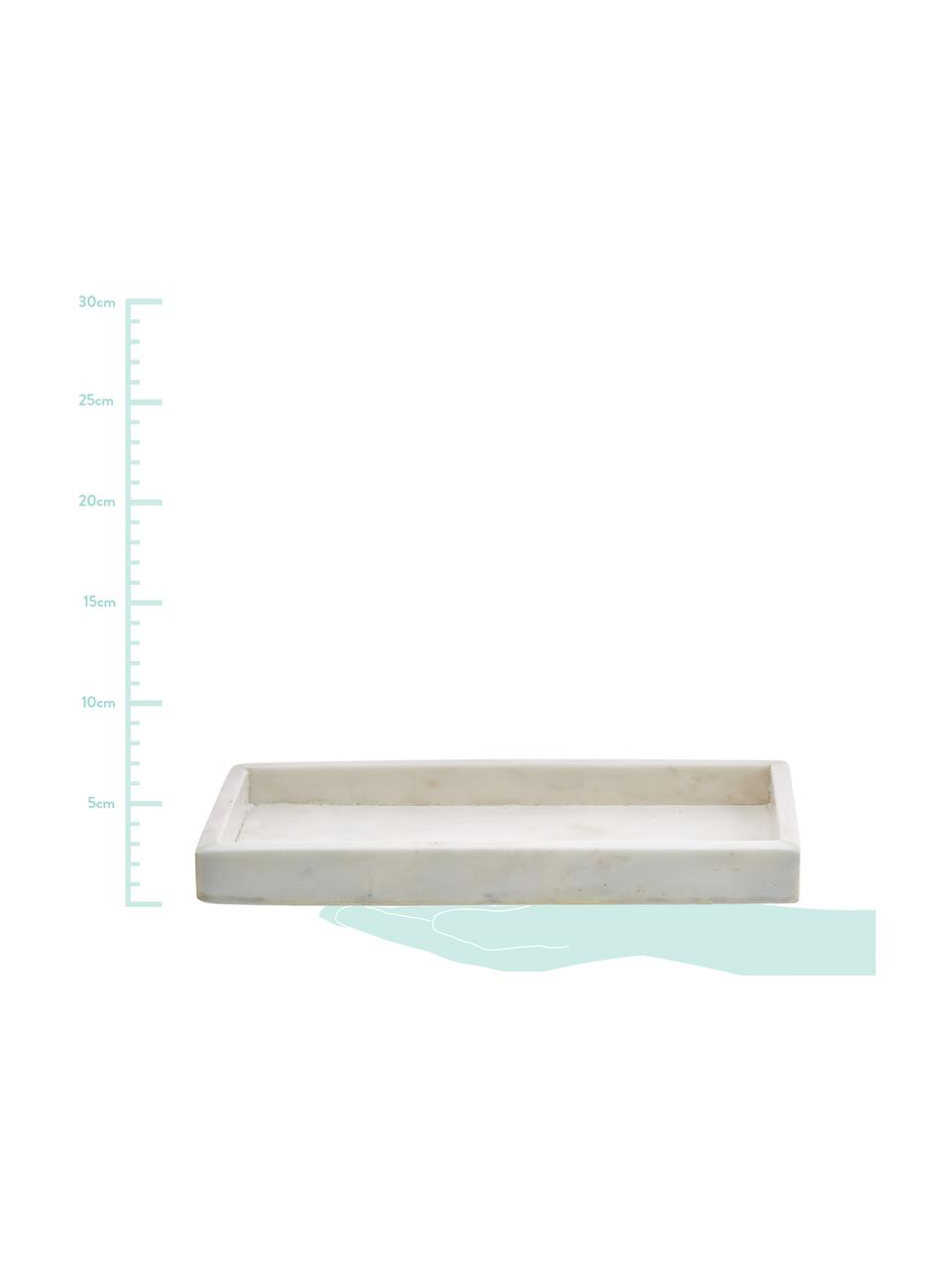 Vassoio in marmo decorativo Yala, Marmo, Bianco, Larg. 30 x Alt. 2 cm