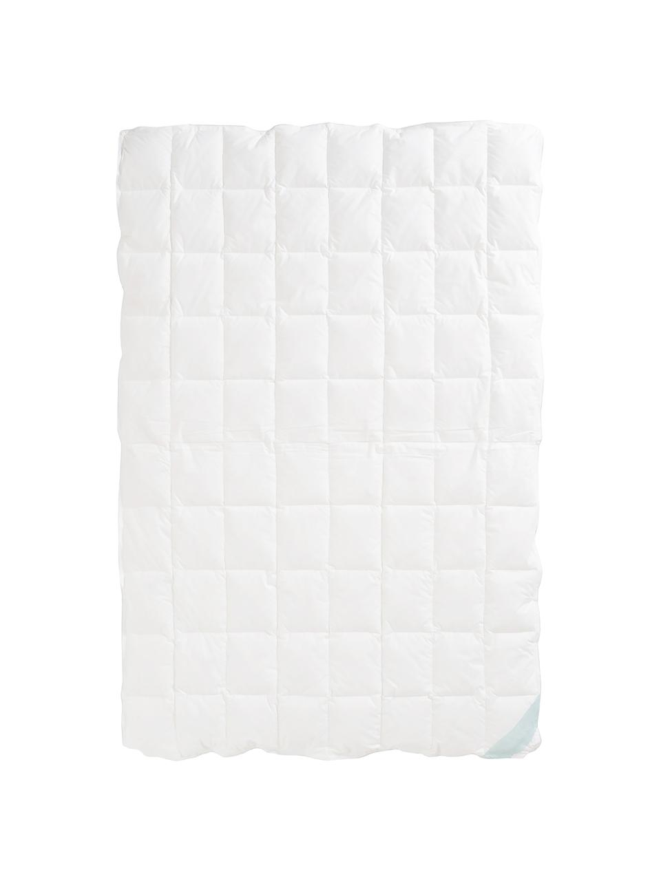 Reine Daunen-Bettdecke Premium, Vierjahreszeiten, Hülle: 100% Baumwolle, feine Mak, Weiß, 135 x 200 cm