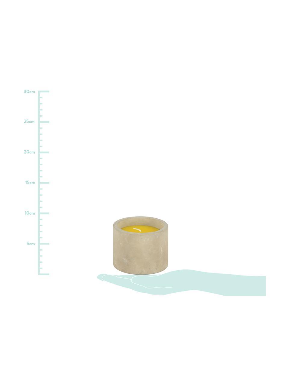 Candela antizanzare Alan, Contenitore: cemento, Giallo, Ø 9 x Alt. 7 cm