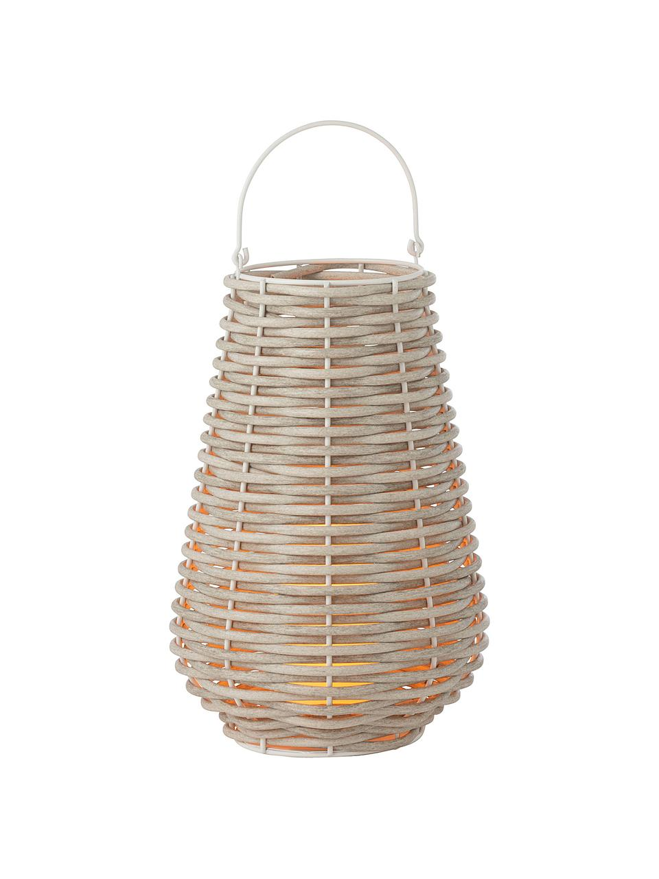 Latarenka ze świecą LED Wova, Beżowy, Ø 32 x W 62 cm