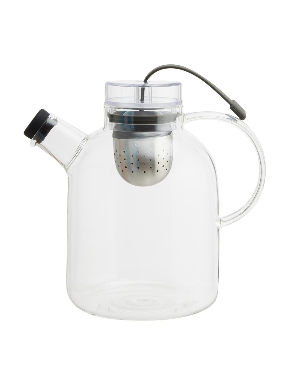Théière design en verre Kettle, 1,5 l, Transparent