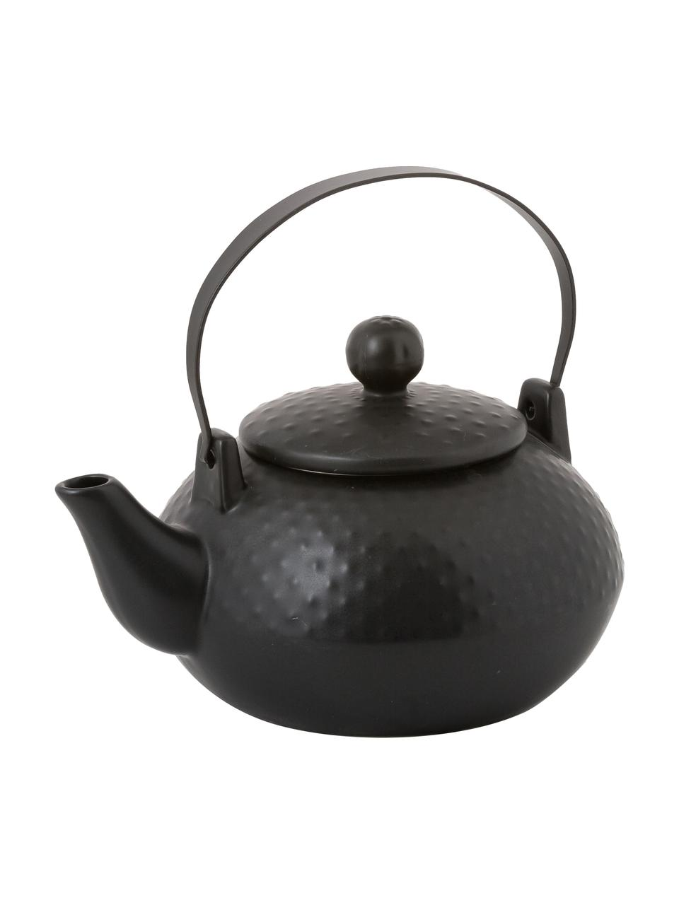 Servizio da tè nero opaco 6 pz, Nero, Set in varie misure