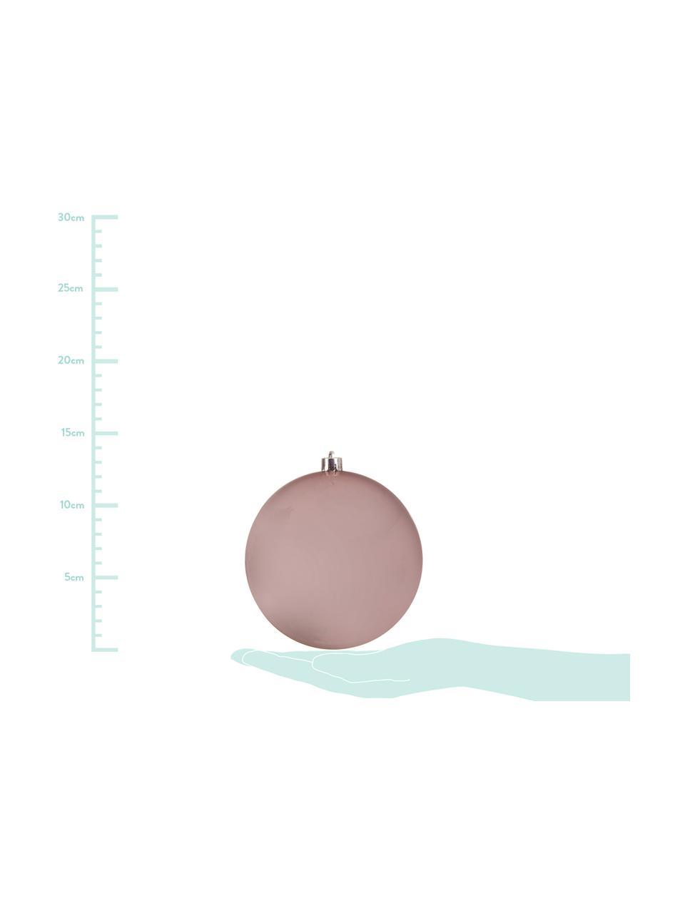 Palla di Natale Minstix Ø 14 cm, 2 pz, Materiale sintetico, Rosa, Ø 14 cm