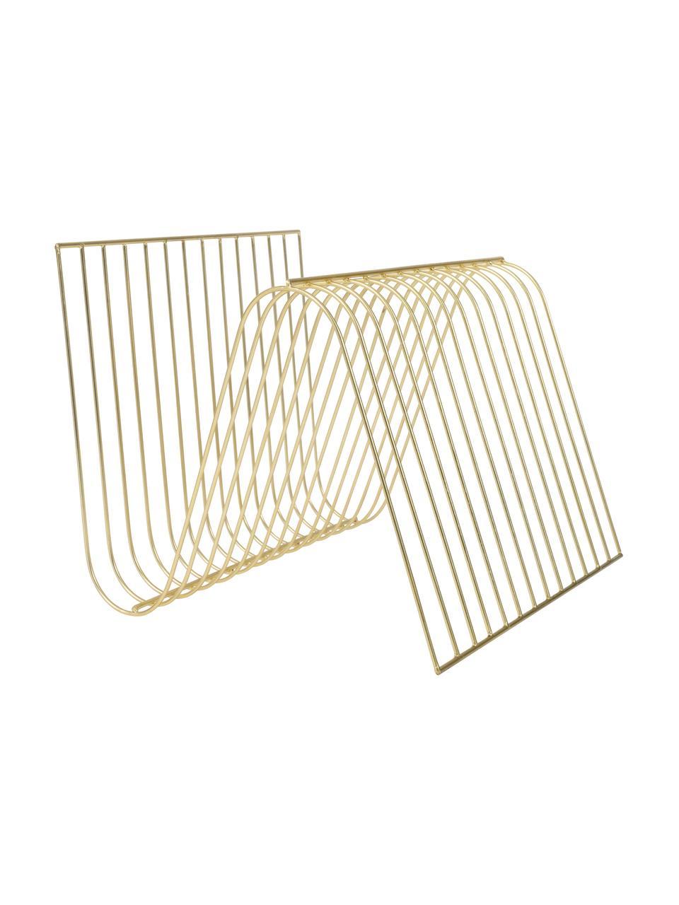 Zeitschriftenhalter Sensual, Metall, beschichtet, Goldfarben, 30 x 26 cm