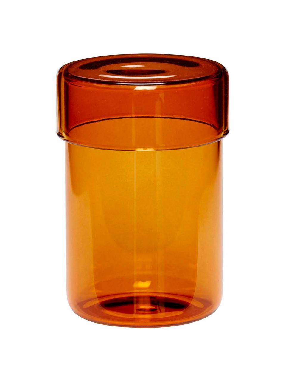 Komplet pojemników do przechowywania Transisto, 2 elem., Szkło, Odcienie bursztynowego, Komplet pojemników S