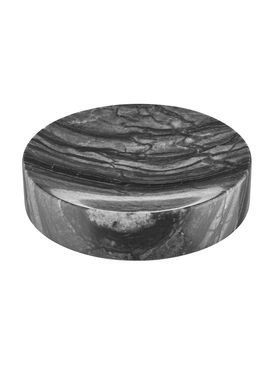 Portasapone in marmo Teren, Marmo, Nero, Ø 11 x Alt. 3 cm