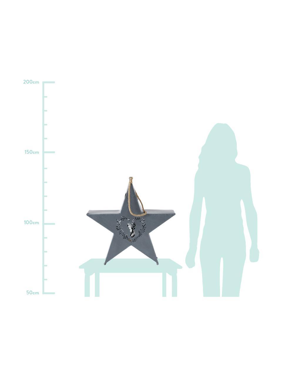 Komplet latarenek Leopold, 2 elem., Szary, biały, Komplet z różnymi rozmiarami