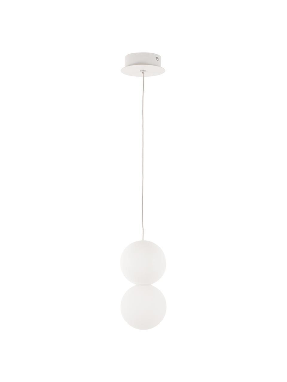 Malé závěsné svítidlo z opálového skla Zero, Bílá